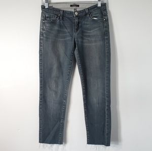 7 For All Mankind Low Rise Fray Crop